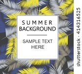 summer denim camouflage... | Shutterstock .eps vector #414316525