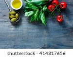italian food background with... | Shutterstock . vector #414317656