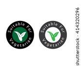 suitable for vegetarian symbol  ... | Shutterstock .eps vector #414320296