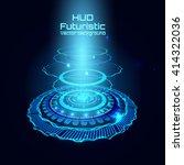 futuristic interface  hud   sci ... | Shutterstock .eps vector #414322036