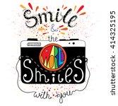 vector hand lettered... | Shutterstock .eps vector #414325195