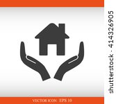 house vector icon  | Shutterstock .eps vector #414326905