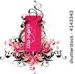 floral frame | Shutterstock .eps vector #4143343