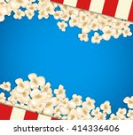 heap popcorn for movie lies on... | Shutterstock .eps vector #414336406