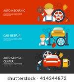 auto mechanical service... | Shutterstock .eps vector #414344872