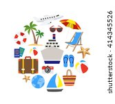 vacation decorative icons set... | Shutterstock .eps vector #414345526