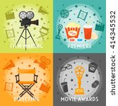 from film making to awards... | Shutterstock .eps vector #414345532