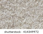 Rice Basmati Background  White...