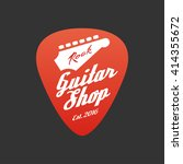guitar store  music shop vector ... | Shutterstock .eps vector #414355672