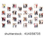 corporate teamwork together we... | Shutterstock . vector #414358735