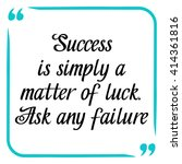 success quote. handwritten... | Shutterstock .eps vector #414361816
