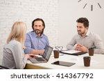 coworking of businesspeople in... | Shutterstock . vector #414367792