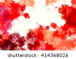 colorful splashed paint... | Shutterstock . vector #414368026