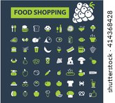 food shopping icons  | Shutterstock .eps vector #414368428