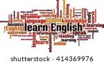 learn english word cloud... | Shutterstock .eps vector #414369976