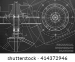 mechanical engineering drawings.... | Shutterstock .eps vector #414372946