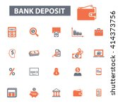 bank deposit icons  | Shutterstock .eps vector #414373756