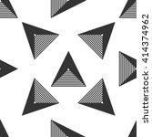 triangle geometric seamless... | Shutterstock .eps vector #414374962