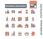 business buildings icons  | Shutterstock .eps vector #414376192