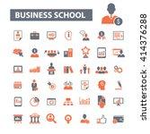 business school icons  | Shutterstock .eps vector #414376288