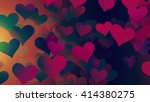 background hearts | Shutterstock . vector #414380275