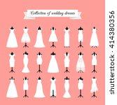 wedding dresses. fashion bride... | Shutterstock .eps vector #414380356