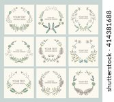 collection of floral wreath ...   Shutterstock .eps vector #414381688