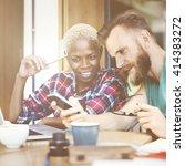 people friendship coffee break... | Shutterstock . vector #414383272