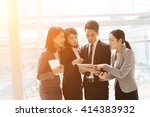 group of business people work... | Shutterstock . vector #414383932