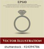 diamond ring vector symbol | Shutterstock .eps vector #414394786