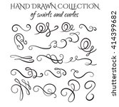 unique collection of hand drawn ... | Shutterstock .eps vector #414399682