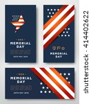 memorial day cards design... | Shutterstock .eps vector #414402622