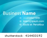 blue abstract template for card ... | Shutterstock .eps vector #414403192