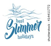 best summer holidays. word... | Shutterstock .eps vector #414411772