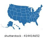 blank outline map of usa | Shutterstock .eps vector #414414652