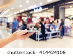 girl use mobile phone  blur... | Shutterstock . vector #414424108