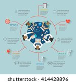 medical infographics with team... | Shutterstock . vector #414428896