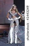 NEW YORK - NOVEMBER 19: Victoria's Secret Fashion Show model Anna Maria Jagodzinska on November 19, 2009 at the Lexington Armory in New York City. - stock photo