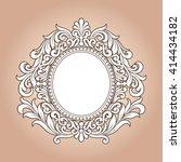 vector vintage border frame... | Shutterstock .eps vector #414434182