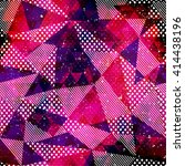 red triangle seamless pattern... | Shutterstock .eps vector #414438196
