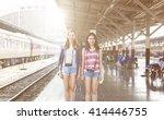 girls friendship hangout... | Shutterstock . vector #414446755