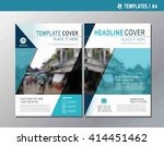 blue vector annual report ... | Shutterstock .eps vector #414451462