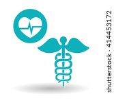 medical care design. health... | Shutterstock .eps vector #414453172