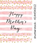 pretty happy mother's day card... | Shutterstock .eps vector #414454312