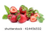 sweet strawberry isolated on... | Shutterstock . vector #414456532