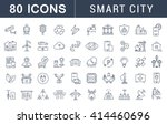 set vector line icons with open ... | Shutterstock .eps vector #414460696