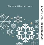 vector set of snowflakes... | Shutterstock .eps vector #41446975