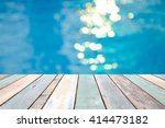 perspective wood table top and... | Shutterstock . vector #414473182