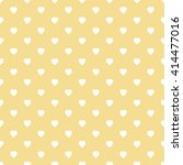 yellow seamless heart pattern | Shutterstock .eps vector #414477016