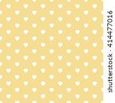 Yellow Seamless Heart Pattern